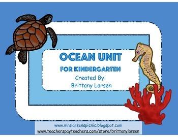 Ocean Unit for Kindergarten