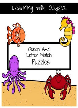 Ocean Uppercase Letter Match Puzzle