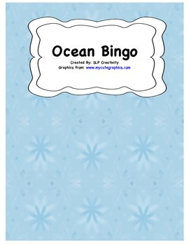 Ocean Vocabulary Bingo