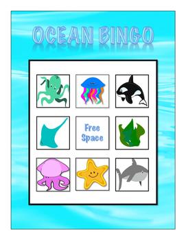 Ocean Vocabulary Bingo
