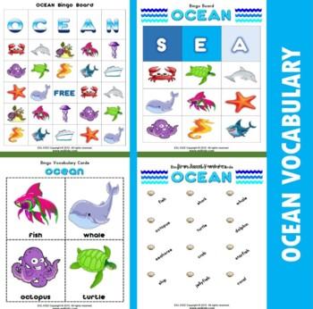 Ocean Bingo Matching Activities