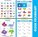 Ocean Themed Vocabulary | Matching Activities