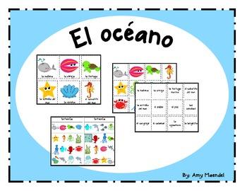 Ocean Vocabulary in Spanish