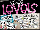 Ocean Voice Level Poster and Cards - Ocean and Dolphin Themed Decor
