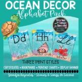 Ocean Watercolor Alphabet Posters | Classroom Decor