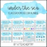 Ocean Watercolor Classroom Decor Bundle
