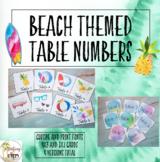 Ocean Wave Table Numbers