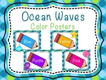Ocean Waves- Color Posters