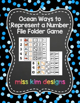 Ocean Ways to Represent A Number File Folder Game for stud