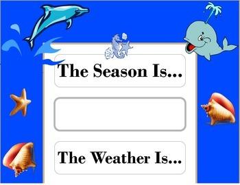 Ocean Weather Chart! Ocean Bulletin Board! Ocean Theme! Ocean Decor!