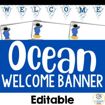 Ocean Theme: Welcome Display (Editable)