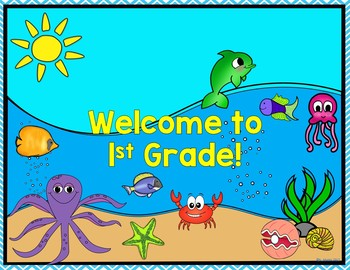 Ocean Welcome Posters {Pre-K through 8th Grade}
