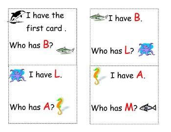 Ocean Who has alphabet game