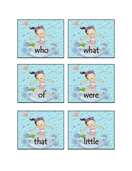 """Ocean """"Wipe Out"""" Sight Word Game"""