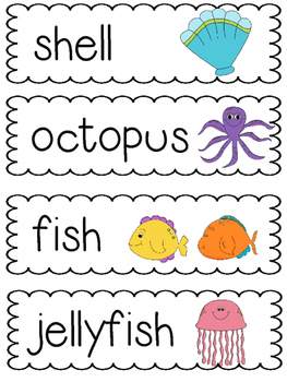 Ocean Word Cards ~ FREEBIE