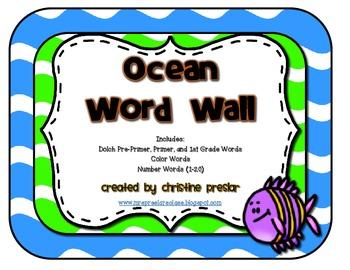 Ocean Word Wall