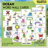 Ocean Vocabulary Word Wall Cards (set of 21)