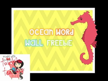 Ocean Word Wall FREEBIE