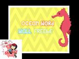 Ocean Word Wall FREEBIE