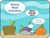 Ocean Word Wall Families ending in an, ap, and at