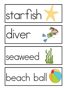 Ocean Word Wall Vocabulary Cards