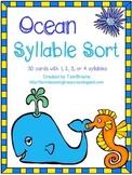 Ocean Words Syllable Sort