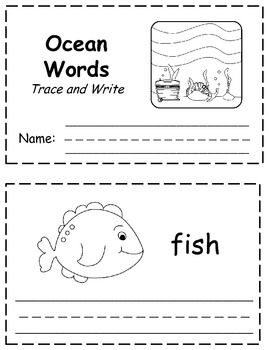 Ocean Words Trace & Write Book