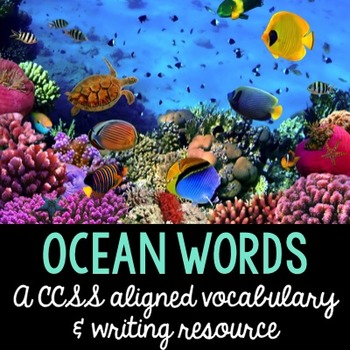 Ocean Words in English and Spanish