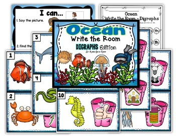 Ocean Write the Room - Digraphs Edition