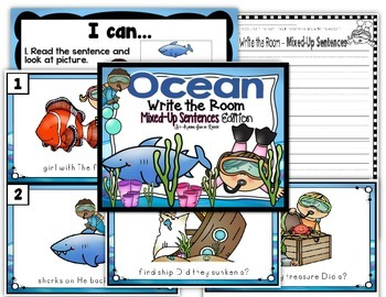 Ocean Write the Room - Mixed-Up Sentences Edition
