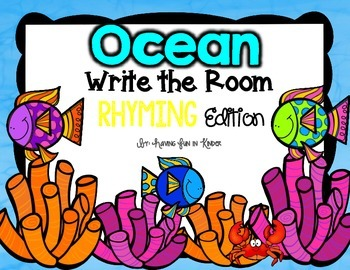 Ocean Write the Room - Rhyming Edition