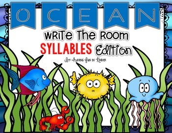Ocean Write the Room - Syllables Edition