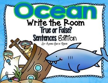 Ocean Write the Room - True or False Sentences Edition