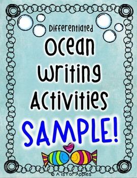 Ocean Writing Activities Sampler {FREEBIE}
