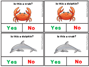 Ocean Yes and No Question Cards