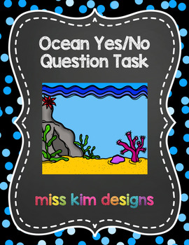 Ocean Yes/No Question Folder Game for students with Autism