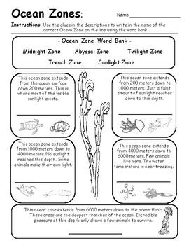 Ocean Zones - Introduction / Review