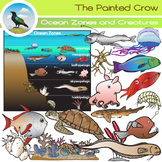 Ocean Zones and Creatures Clip Art Set - Oceanography