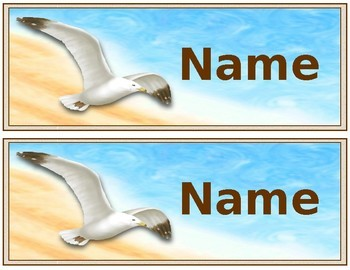 Ocean and Beach Name Plates