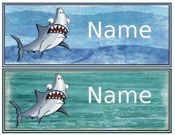 Ocean and Beach Name Plates