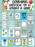 Ocean and Beach Theme Classroom Decor Beginning of the Year Set