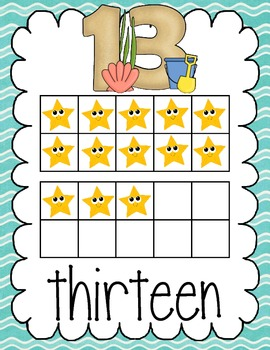 Ocean and Beach Theme Numbers 0-20