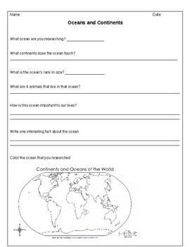Ocean and Continent Research Paper
