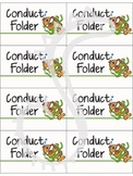 Ocean and Fish Theme Conduct Folder Labels