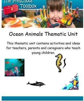 Ocean and Ocean Animals Thematic Unit for Preschool and Kindergarten