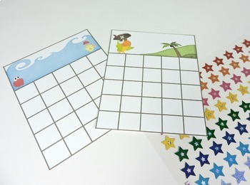Sticker Charts - Ocean and Pirate