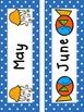 Ocean and Polka Dot Themed Calendar Set (Including Days of