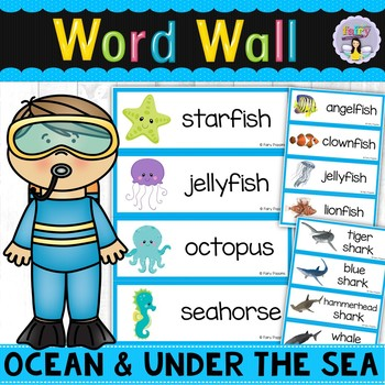 Ocean & Under The Sea Word Wall