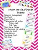 Ocean Fish Themed Classroom Management Super Packet