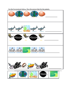 Ocean and pond themed activity packet